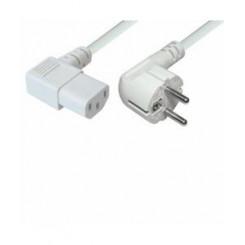 EDB apparat ledning 5.0m m/ vinkelstik - hvid