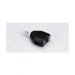 2x3,5mm stereo jack hun - 3,5mm stereo jack han minijack