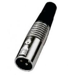 XLR han stik indsættes i mikrofon