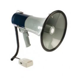 Megafon 25 watt med løs mikrofon
