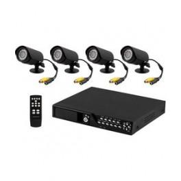 Overvågnings -kit m/ 4 kameraer & harddisk