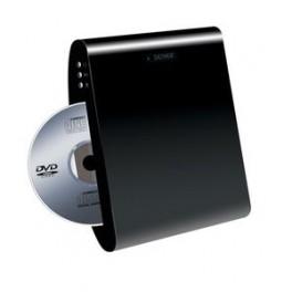 Væghægt DVD afspiller SORT