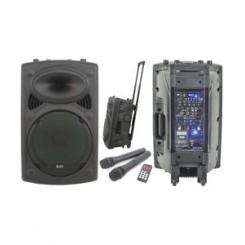 Transportabelt lydanlæg m/USB MP3 150Watt