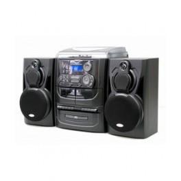 Stereoanlæg med grammofon, CD & kassette