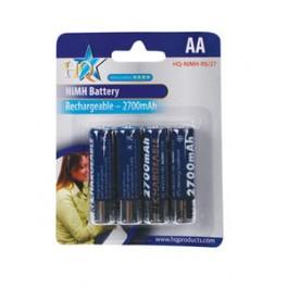"""Genopladelige """"AA"""" batterier 2700mAh"""