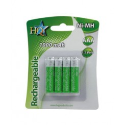 """Genopladelige """"AAA"""" batterier 1000mAh - 4pak"""