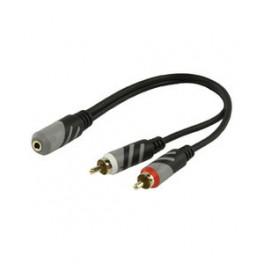 Minijack hun stereo - 2 phono han
