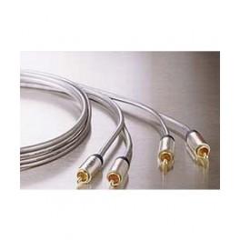 2xRCA Han-Han 1.0m kabel med forgyldte stik