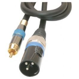 XLR/Han - Phono/Han audiokabel 2 Meter