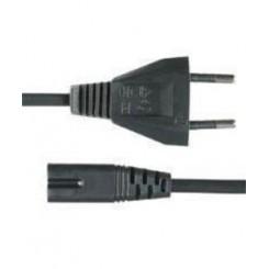 Netkabel 8 tals ledning strøm kabel transistorradio kabel sort