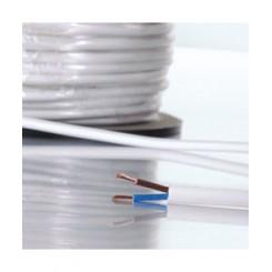 Lysnet ledning kabel i løs meter 2 x 0,75mm² (rund)