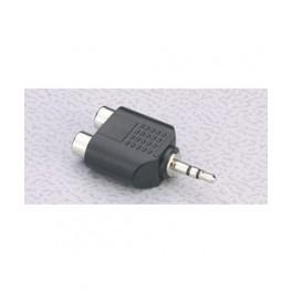2 x RCA phono hun - 3,5mm stereo jack han minijack adaptor