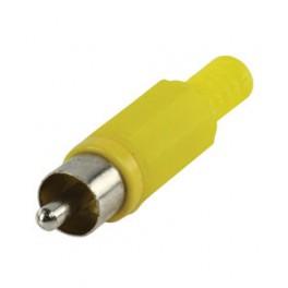 1 RCA han phono stik - plast