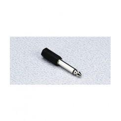 3,5mm jack hun minijack - 6,3mm han mono stort jack adaptor
