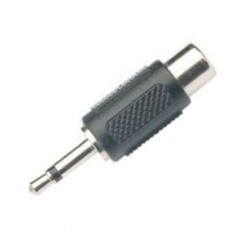 3.5mm mono jack han minijack - RCA phono hun adaptor stik