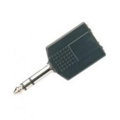 6.3mm jack y-splitter stereo