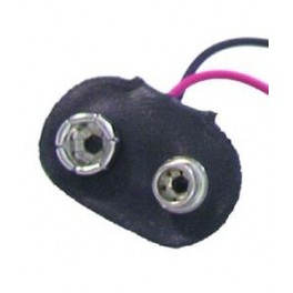 Battericlips til 9 volt batteri