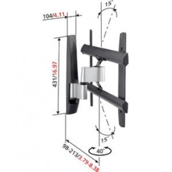 """Vogels LCD/plasma vægbeslag 31"""" - 42"""". EFW 6325"""