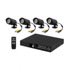 Overvågnings -kit m/ 4 kameraer & harddisk DVR-KIT9