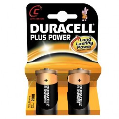 Duracell Plus C batterier