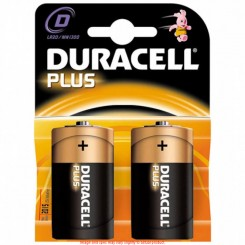 Duracell Plus D batterier
